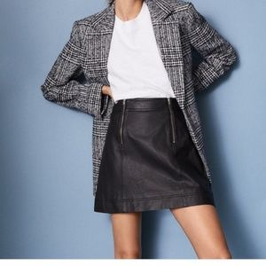 Madewell Leather Uptown Zip Skirt  14 NEW